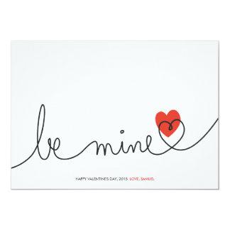 Unbedeutender Valentinsgruß ist meiner moderne 12,7 X 17,8 Cm Einladungskarte