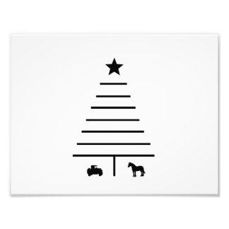 Unbedeutender Weihnachtsbaum Fotodruck