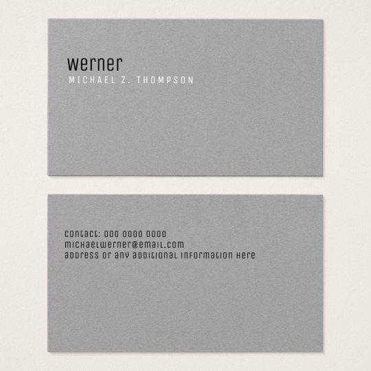 unbedeutendes berufliches elegantes einfaches Grau Visitenkarte
