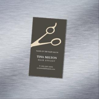 Unbedeutendes dunkelgraues Imitat-Metall Scissors Magnetische Visitenkarten