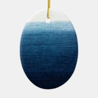 Unbedeutendes Indigo der Annäherungs-2 Keramik Ornament