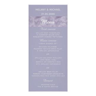 Unbedeutendes Lavendel-Aquarell-Streifenmenü Werbekarte