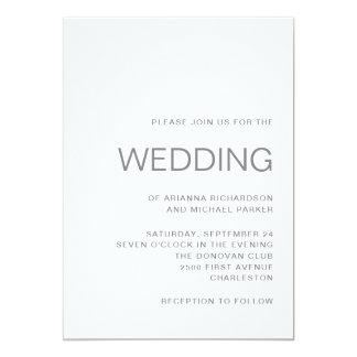 Unbedeutendes schickes Grau der Hochzeits-| Karte