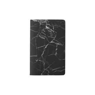 Unbedeutendes schwarzes MarmorMoleskine Notizbuch