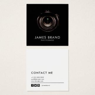 Unbedeutendes Schwarzweißfotografie Quadratische Visitenkarte