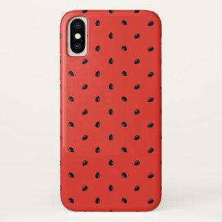 Unbedeutendes Wassermelone-Samen-Muster iPhone X Hülle