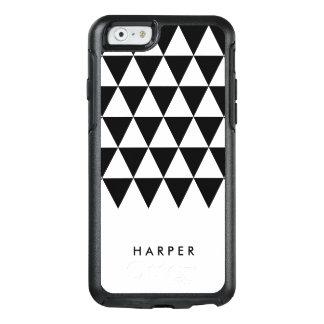 Unbedeutendes weißes und schwarzes Dreieck OtterBox iPhone 6/6s Hülle