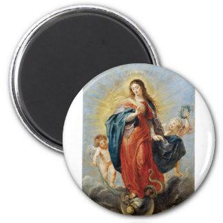 Unbefleckte Empfängnis - Peter Paul Rubens Runder Magnet 5,1 Cm