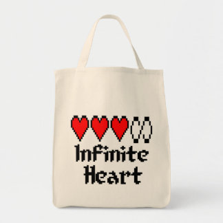 Unbegrenzte Herz-Tasche Tragetasche