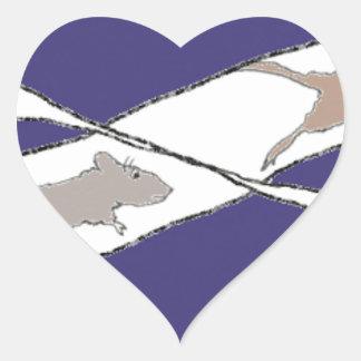 Unbegrenztes Ratten-Rennen Herz-Aufkleber