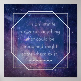 Unbegrenztes Universum-positives Poster