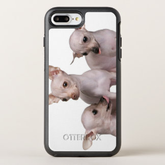 Unbehaarte Chihuahua (5 und 7 Monate alte) OtterBox Symmetry iPhone 8 Plus/7 Plus Hülle