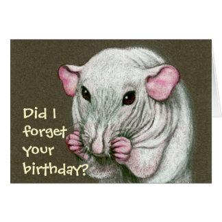 Unbehaarte Ratte, vergessen Geburtstag? Karte