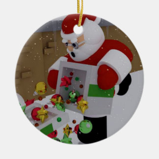 """Unbeholfene Klausel "" Keramik Ornament"