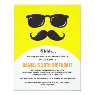 Unbekannte gelbe Überraschungs-Party Einladung