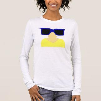 Unbekannter Schnurrbart u. die Lang-Hülse T der Langarm T-Shirt