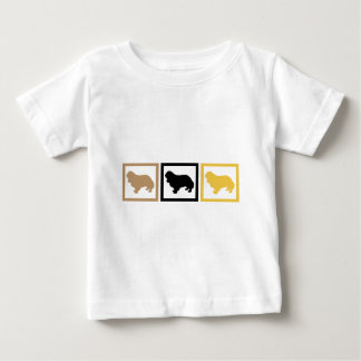 Unbekümmerte Königcharles Spaniel-Quadrate Baby T-shirt