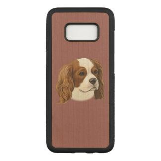 Unbekümmerter Königcharles Spaniel im Porträt Carved Samsung Galaxy S8 Hülle