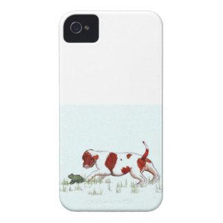 Unbekümmerter Königcharles Spanielwelpe CKC iPhone 4 Hüllen