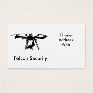 Unbemannte Luftfahrzeuge oder Drohnen Visitenkarten