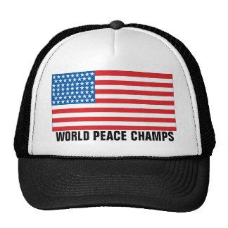 Unbestrittener Weltkrieg verficht Flagge-LKW Baseball Caps