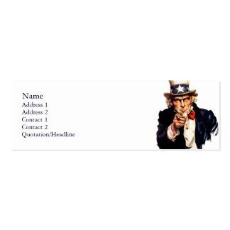 Uncle Sam Dünne Visitenkarten