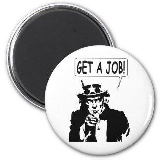 Uncle Sam Erhalten einen Job Runder Magnet 5,7 Cm