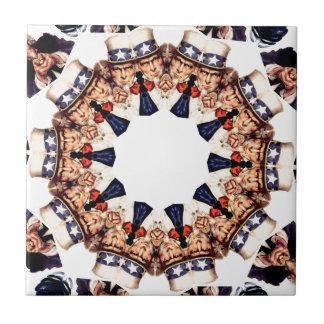 Uncle Sam Finger-Kaleidoskop zeigend Keramikfliese
