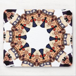 Uncle Sam Finger-Kaleidoskop zeigend Mousepad