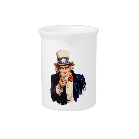 Uncle Sam Getränke Pitcher