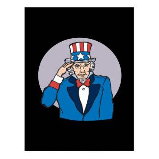 Uncle Sam Grüße Sie Postkarte
