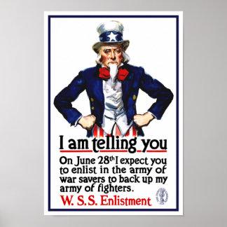Uncle Sam -- Ich erkläre Ihnen Poster