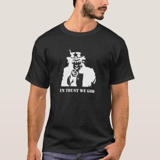Uncle Sam im Vertrauen wir Gott T-Shirt