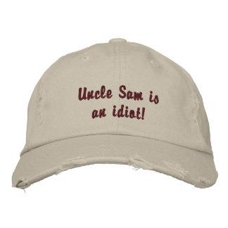 Uncle Sam Ist ein Idiot! Bestickte Kappe