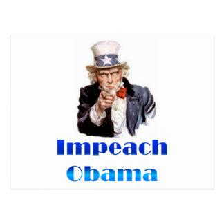 Uncle Sam Klagen Obama an Postkarte