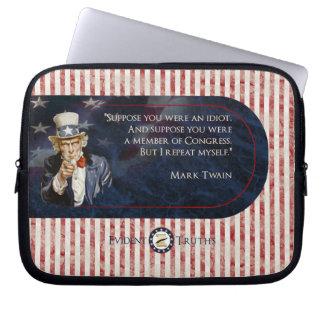 Uncle Sam - Mark Twain Laptop Sleeve Schutzhüllen