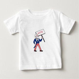 Uncle Sam Plakat-Abstimmungs-stehender Cartoon Baby T-shirt