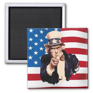 Uncle Sam Quadratischer Magnet