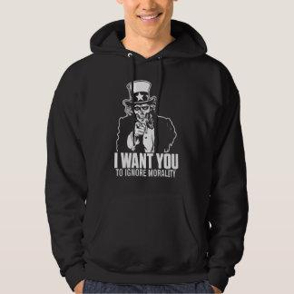 Uncle Sam Schädel-Shirt Hoodie