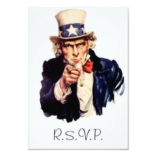 Uncle Sam UAWG Karte 8,9 X 12,7 Cm Einladungskarte