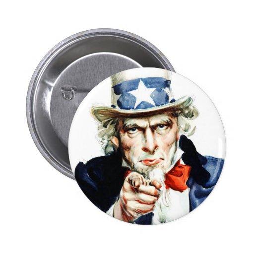 Uncle Sam - Von Vintagem Flagg Plakat Buttons