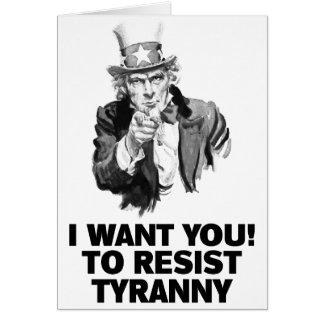 Uncle Sam Will Sie Karte