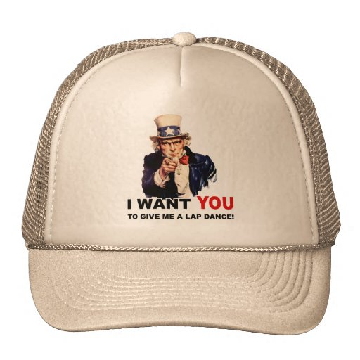 Uncle Sam WOLLEN SIE LAPDANCE Baseball Caps