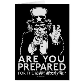 Uncle Sam Zombie-Apokalypse-Karten