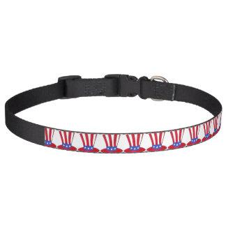 Uncle Sam Zylinder-patriotische amerikanische Haustierhalsband