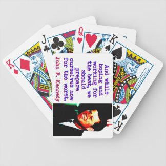 Und beim Hoffen und Arbeiten - John Kennedy Bicycle Spielkarten