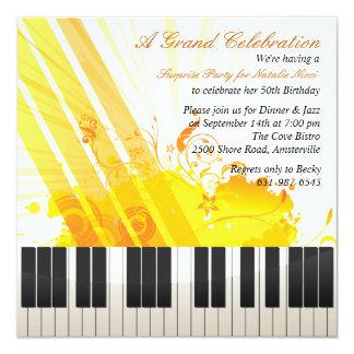 Und diese ganze Jazz-Einladung Quadratische 13,3 Cm Einladungskarte