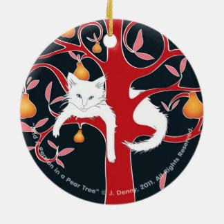 Und ein Perser in einem Birnen-Baum… Doppelten Keramik Ornament