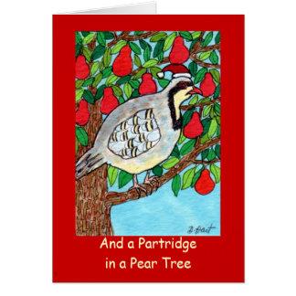 Und ein Rebhuhn in einem Birnen-Baum Karte