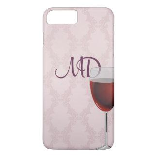 und erröten wine rosa Damast iPhone 7 Plus Hülle